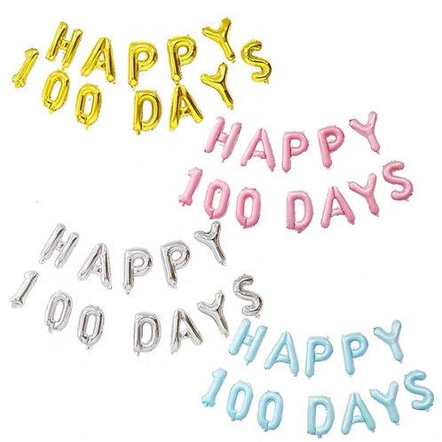 HAPPY 100 DAYS字母