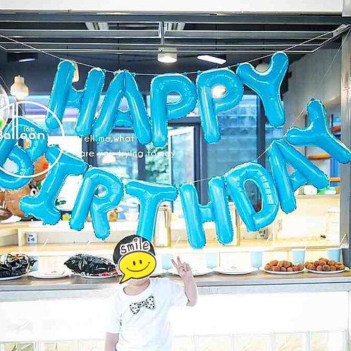 美版Tiffany Blue Happy Birthday懸掛氣球