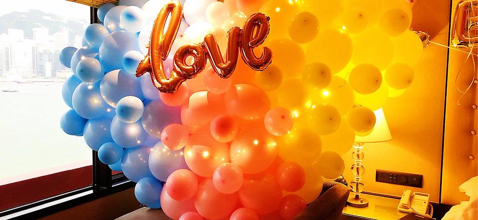 大型造型心心氣球