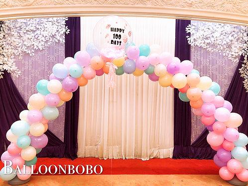 百日宴拱門balloon arch