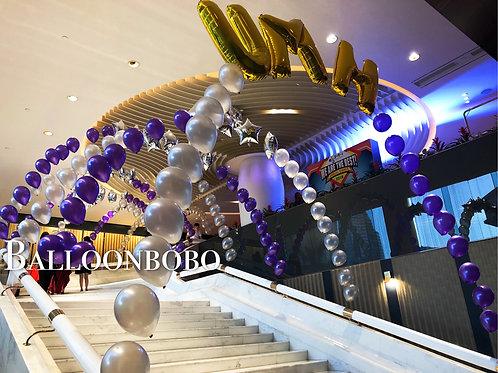 氦氣球拱門Helium balloons arch