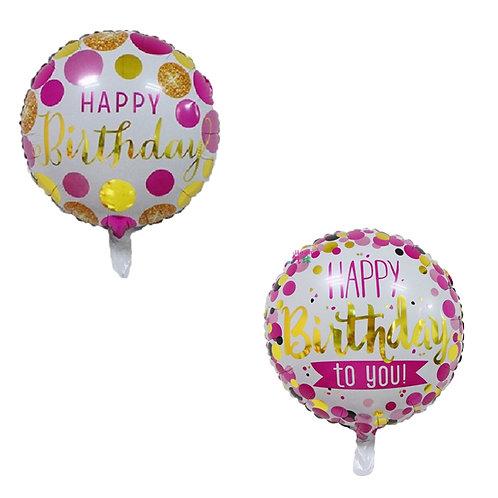 18寸生日快樂鋁箔氣球