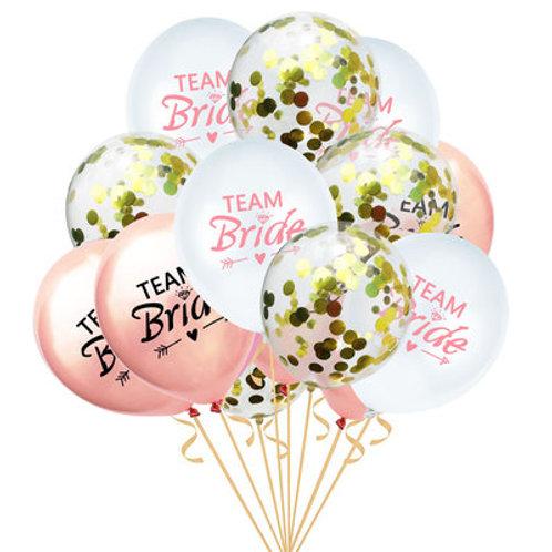 新款Team Bride玫瑰金閃片氦氣球