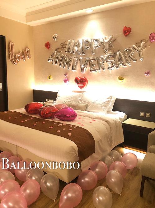 Happy Anniversary心心氣球套餐