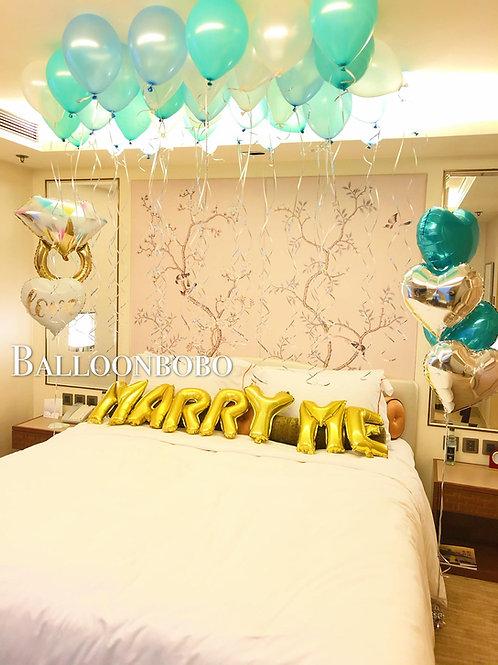 MARRY ME求婚氣球上門佈置