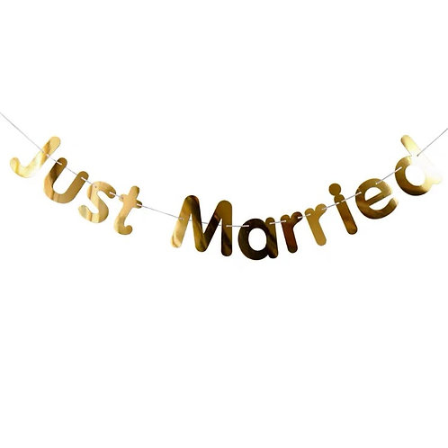 Just Married Banner(Gold)