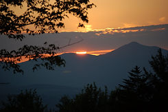 Stowe Mountain Sunset