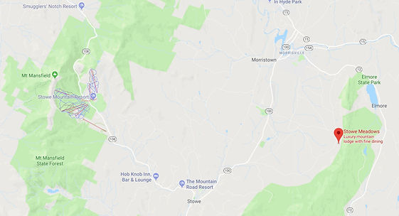 Map of Stowe Vermont
