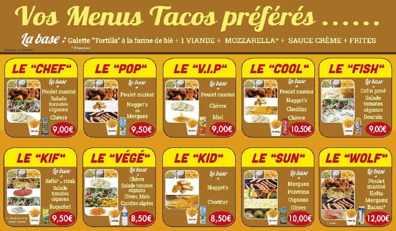 Vos menus Tacos préférés - Paprika Tacos Royan