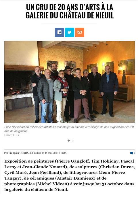 Article Château de Nieul