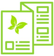 Dépliant, icône vert.png