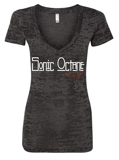 Sonic Octane - Womens V Neck T Shirt (Burnout)