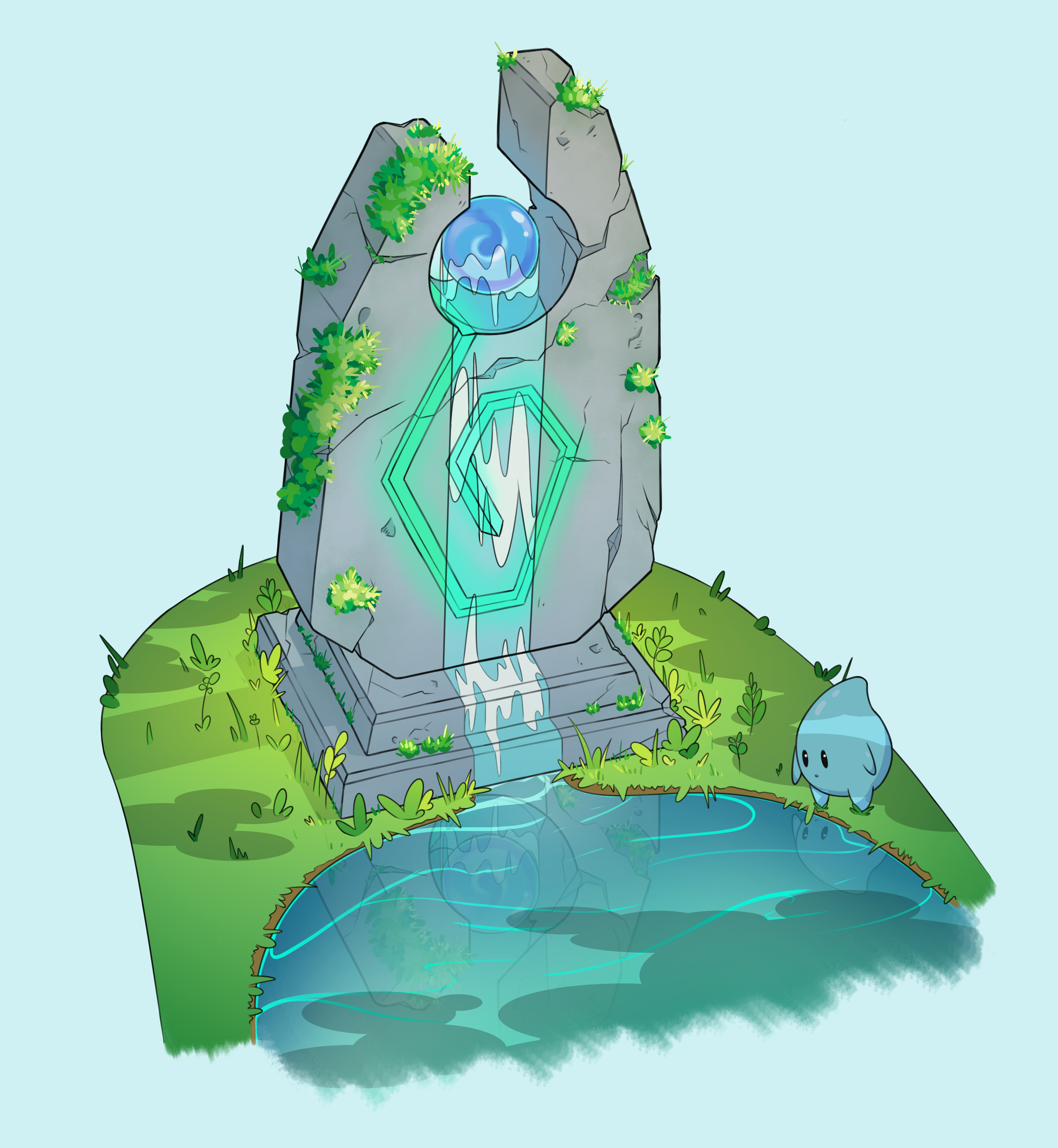 Water Shrine Diorama