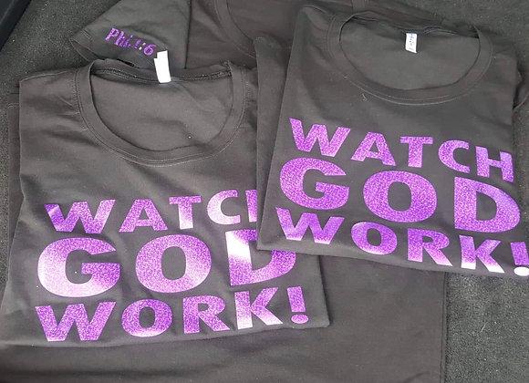 T-Shirt: Watch GOD Work - Limited Edition (Purple)