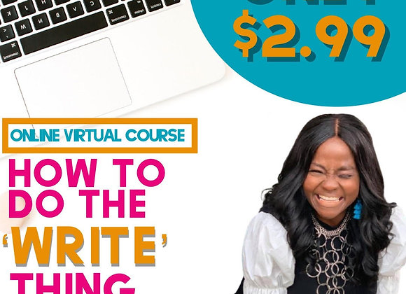Online: How To Do The Write Thing