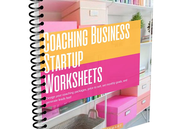 Coaching Business Startup (Digital Workbook)