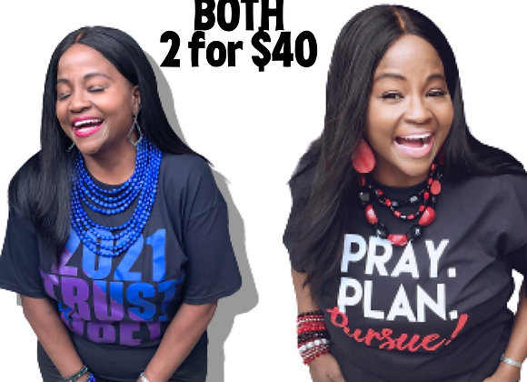 T-SHIRT Bundle - Get Both 2 for $40