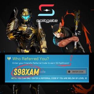 Splitgate Referral Code S98XAM