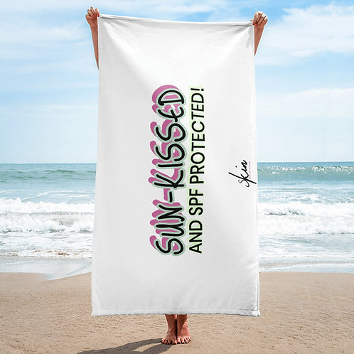 Sun-Kissed & SPF Protected Beach Towel