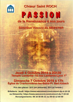 Concert Oct 2018 La Passion
