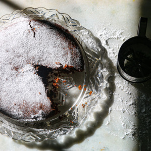 """this chocolate """"depression cake"""" is free of butter, eggs and milk."""