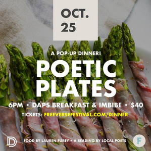 Poetic Plates: my pop-up restaurant with Poet Laureate Marcus Amaker