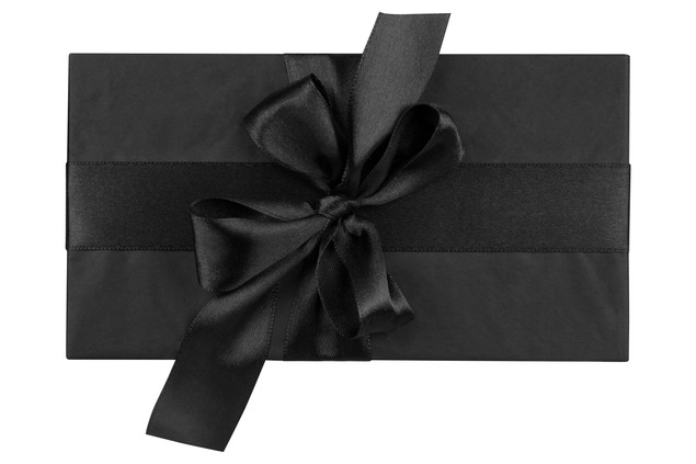 Gift box isolated on white background. T