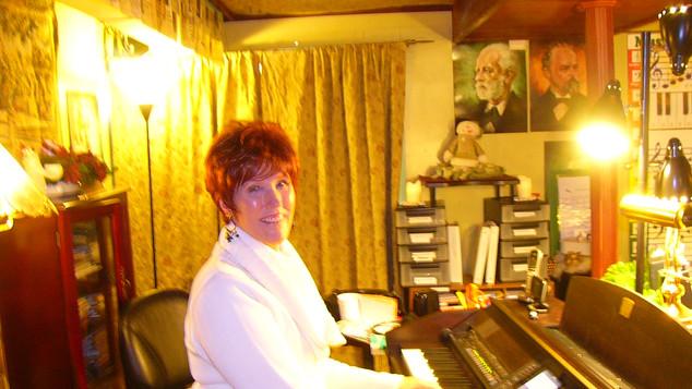 Ms. Cheryl enjoys a high tech studio.