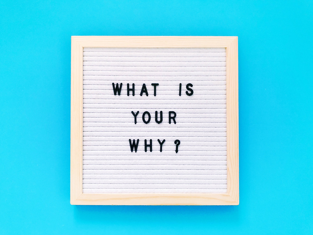 What is your Why question in a frame
