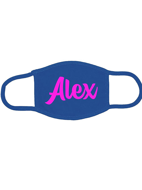 Add your own text! Customized Face Mask, Made in USA, 3-Ply 100% Cotton Mask