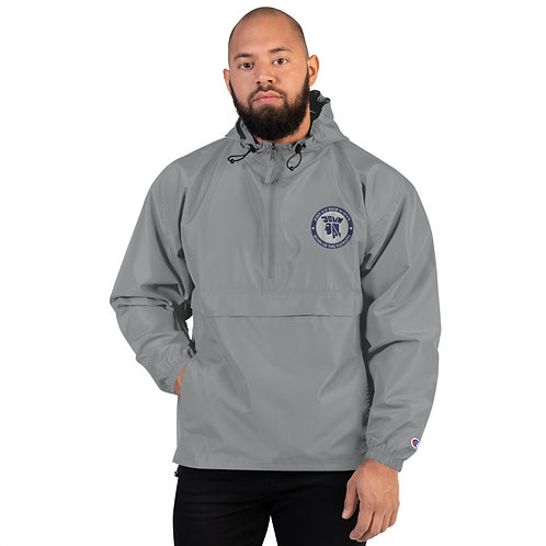 Embroidered Champion Packable Windbreaker with John Jay Seal