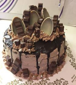 Sjokoladekake med kinder