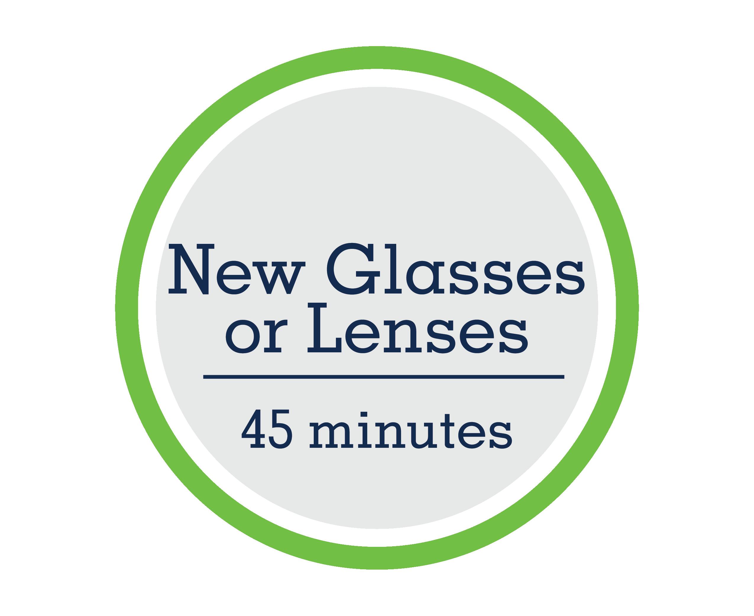 New Glasses or Lenses