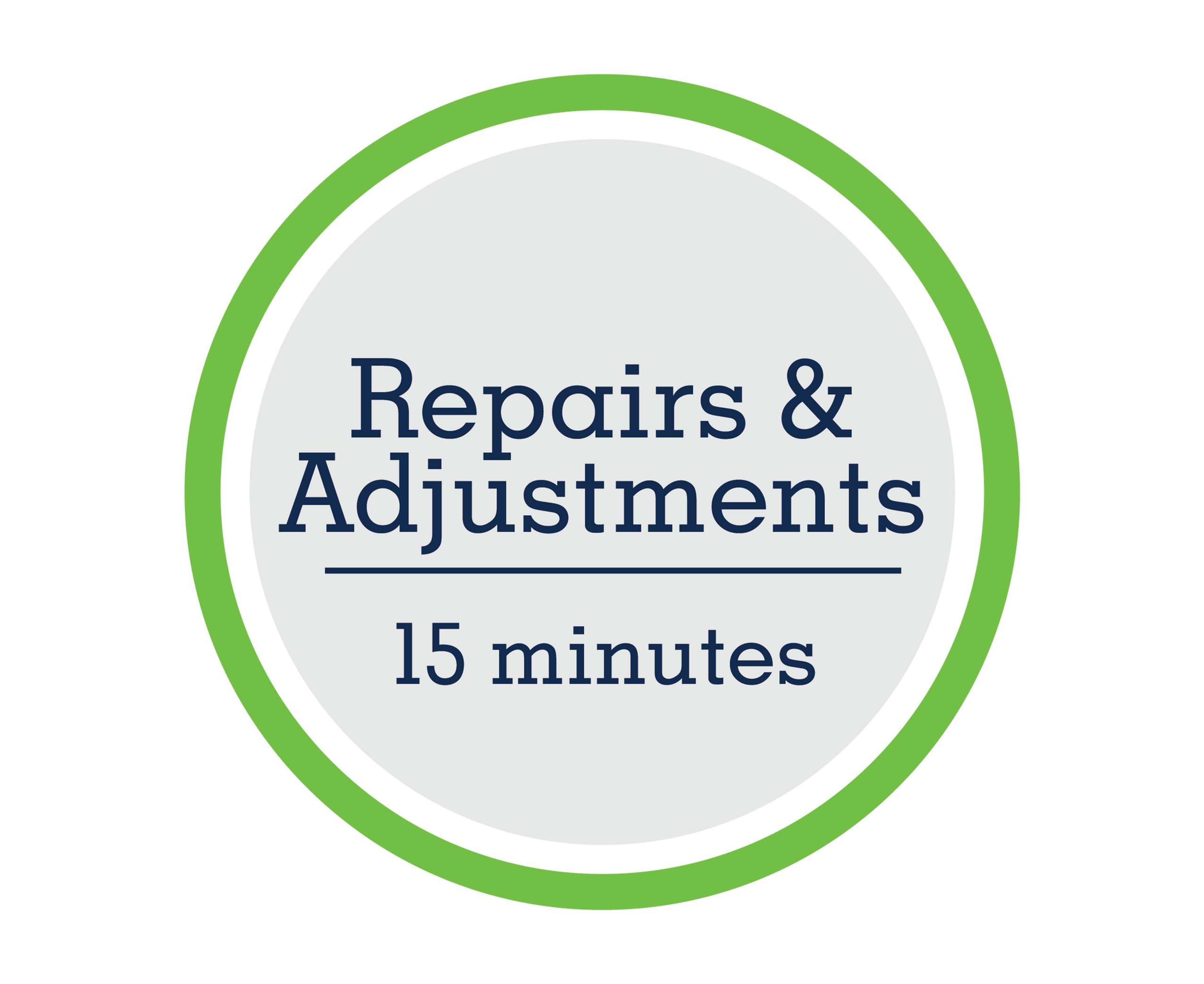 Repairs & Adjustments