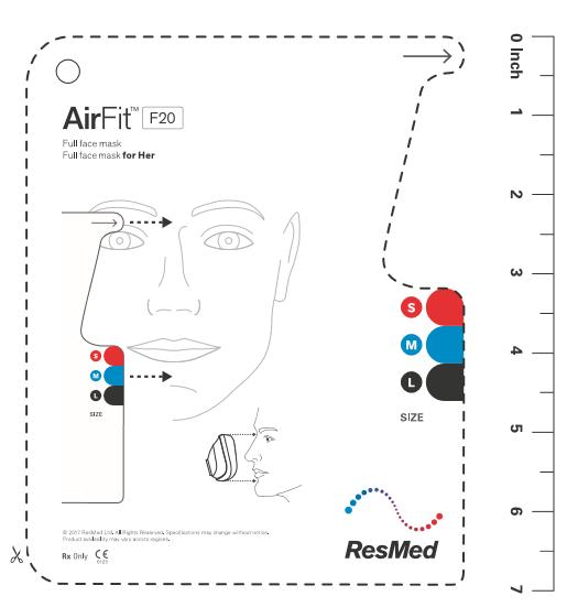 AirFit F20 Mask Sizing Guide Dubai