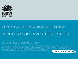 REPORT: TOTAL ANNUAL COST TO NSW EMPLOYERS OF MENTAL ILL-HEALTH IS ESTIMATED TO BE $2.8 BILLION