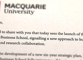 MACQUARIE UNIVERSITY LAUNCHES MACQUARIE BUSINESS SCHOOL