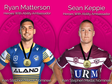 HEROES WITH ABILITY AMBASSADORS NOMINATED FOR ONE OF RUGBY LEAGUE'S HIGHEST AWARDS OF 2021