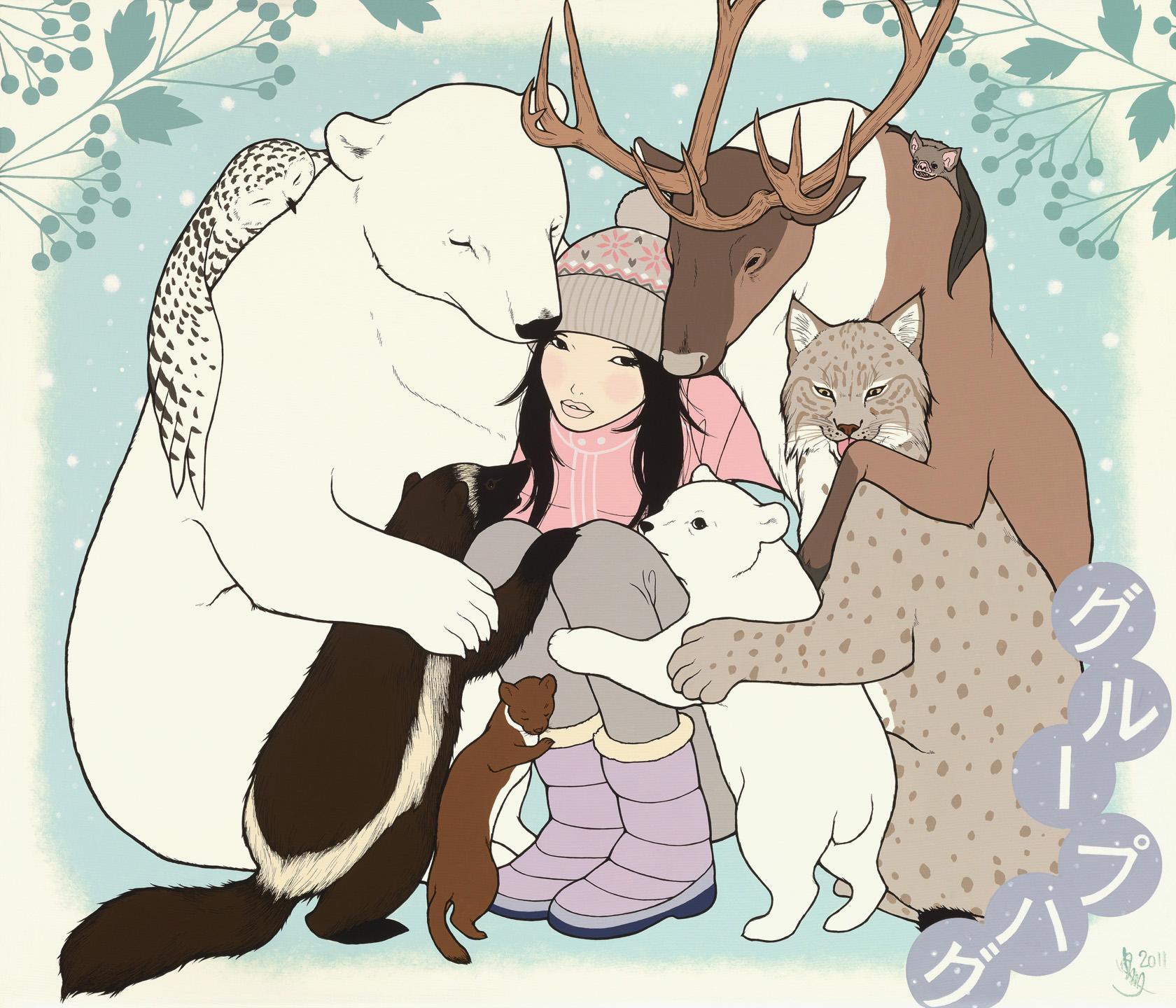 animal groupHug