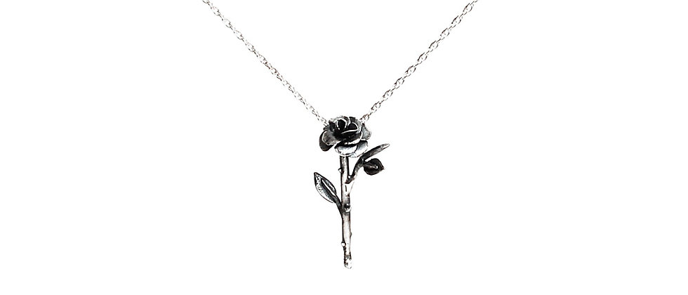 Single Rose Lily Necklace