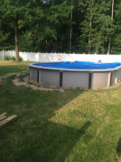 Pool before the deck.
