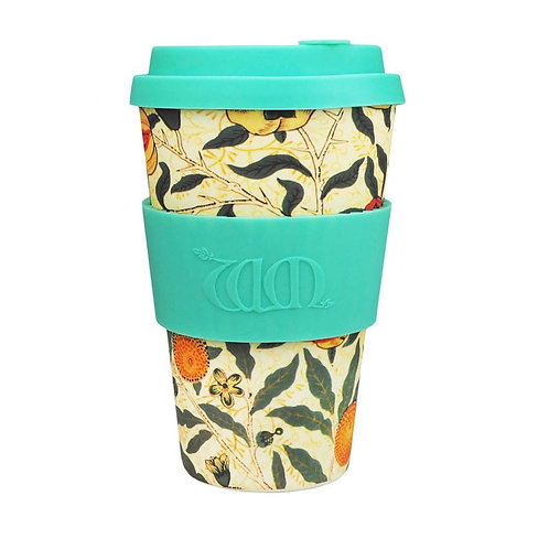 Ecoffee Bamboo Cup with Lid Pomme