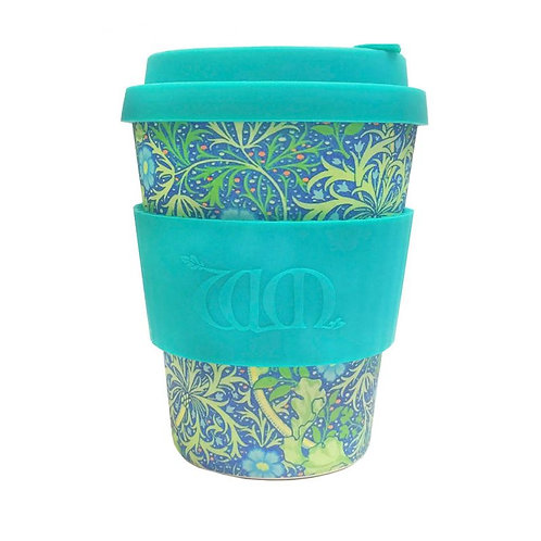 Ecoffee Bamboo Cup with Lid Seaweed Marine