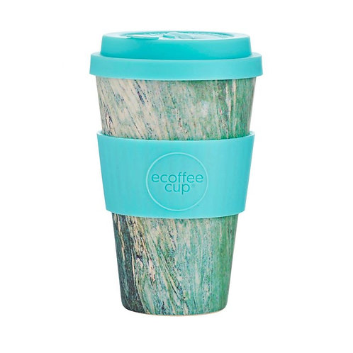 Ecoffee Bamboo Cup with Lid Marmo Verde