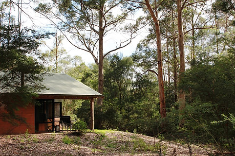 pemberton accommodation spa chalet secluded in forest setting