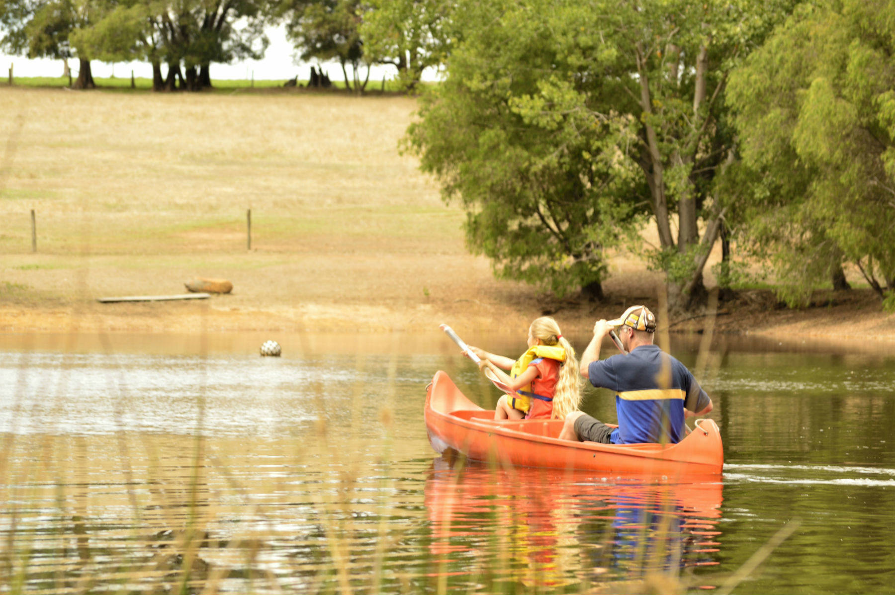 Canoeing at Diamond Forest Cottages--