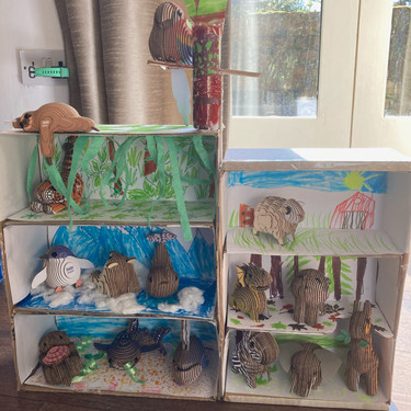 """""""My seven year old daughter has just finished making a EUGY display shelf for the ones she has so far and is planning on extensions... They have been a brilliant thing for us to do during lockdown this time round. It's kept her really busy, which has been no mean feat these last few months. They are a totally brilliant design."""""""