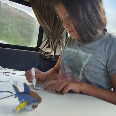 """""""Recently found your EUGY puzzles whilst holidaying in the South Island!! Bought 2 from a gift shop (shark and ptero). My 9 year old daughter and myself did the shark whilst freedom camping at Mount Cook 😊"""""""