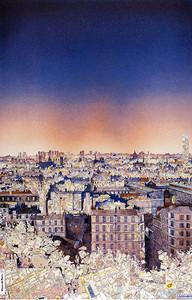 Paris. Découpage de cartes