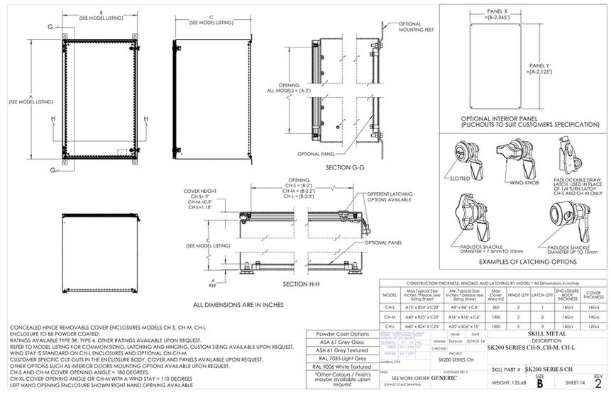 SK200 Sample Drawing